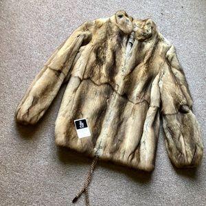 Jackets & Blazers - GENUINE FUR BOMBER JACKET